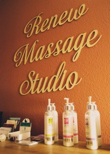 Renew Massage Studio products